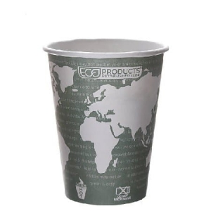 Kubek papierowy na kawę PLA 360 ml (90) World Art - 50 szt./opak.
